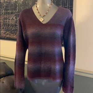 Columbia Fuzzy Wool Blend Ombré Sweater